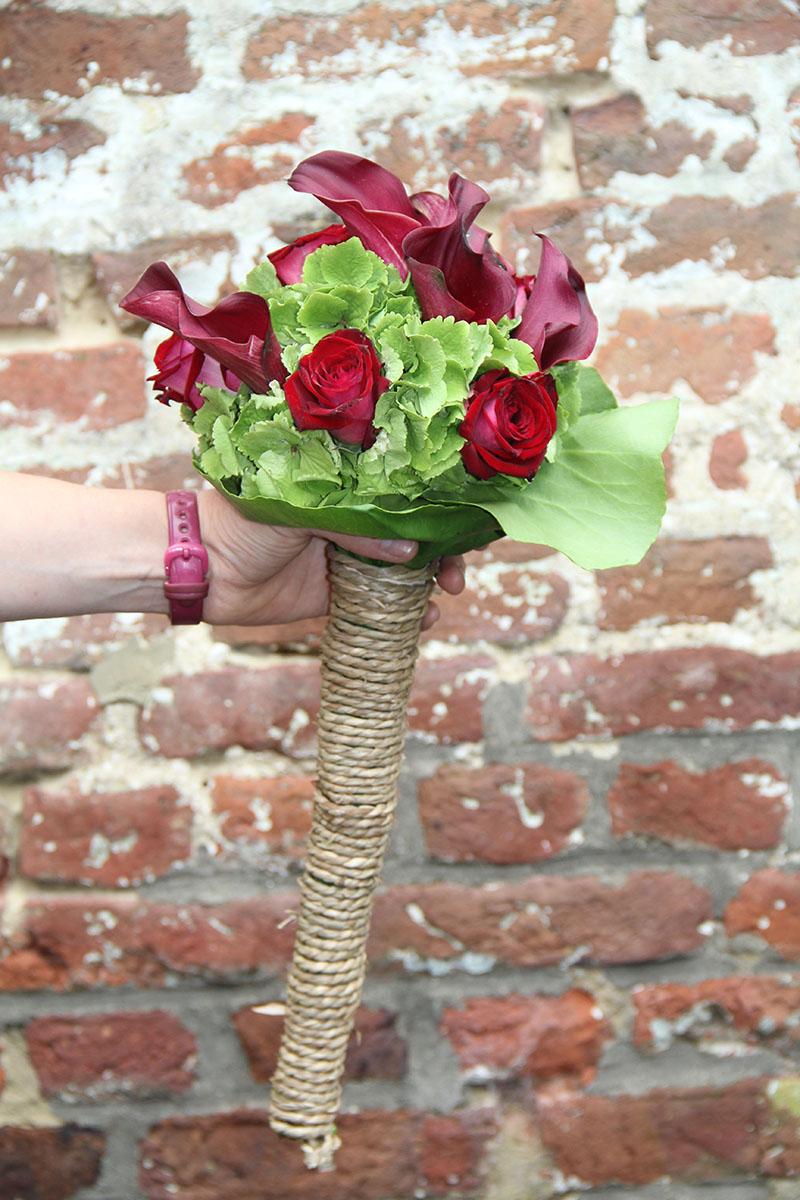 Bouquet de mariée longues tiges