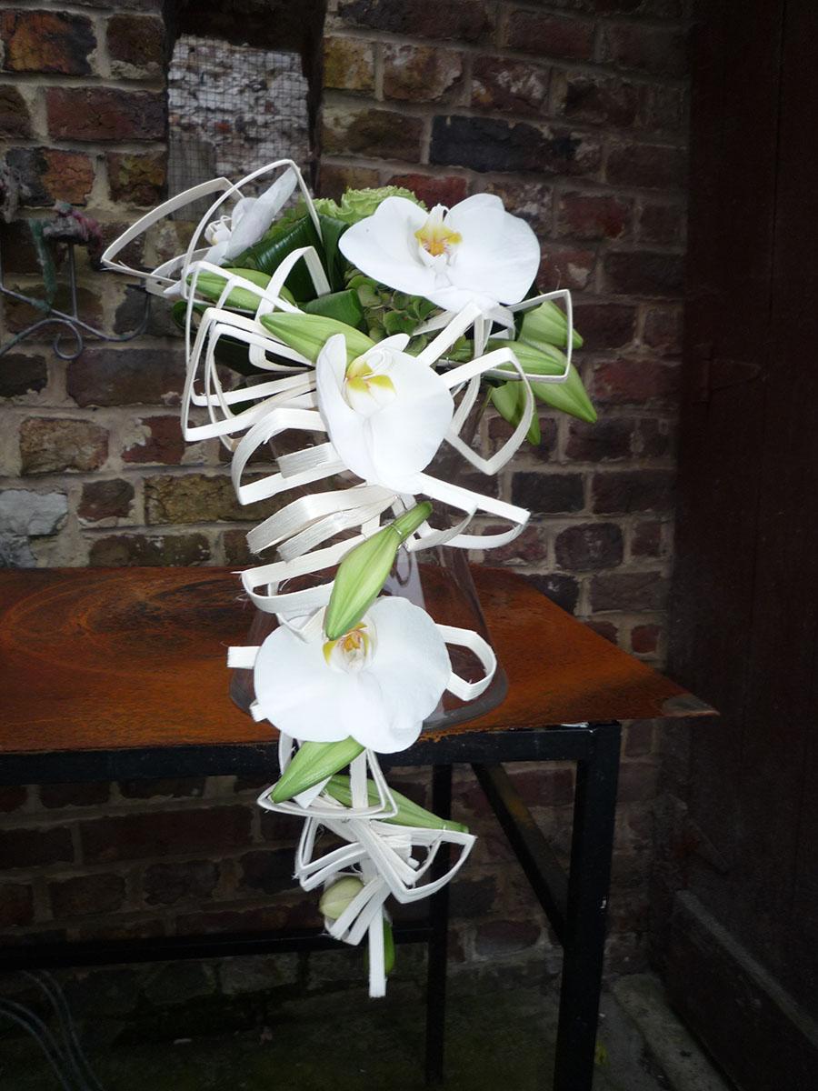 Bouquet de mariée rotin