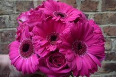 Bouquet mariée roses & germini